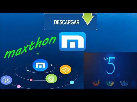 DESCARGAR E INSTALAR MX MAXTHON 5 |  2017 WINDOWS 10