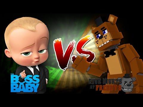 Minecraft BOSS BABY (SHARKY) VS FREDDY FNAF (LITTLE KELLY)