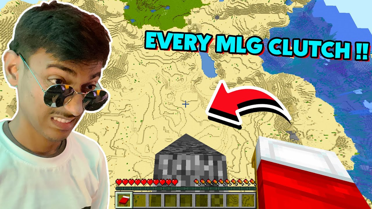 Doing Every HIGHEST MLG Clutch In Minecraft !!!!!