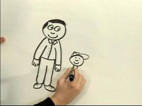 Easy cartoon drawing how to draw a cartoon man youtube