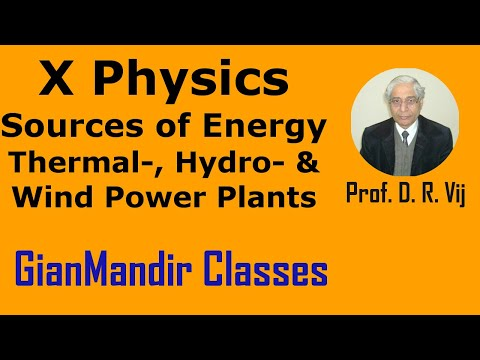 X Physics - Sources of Energy - Thermal-, Hydro- and Wind Power Plants by Amrinder Sir