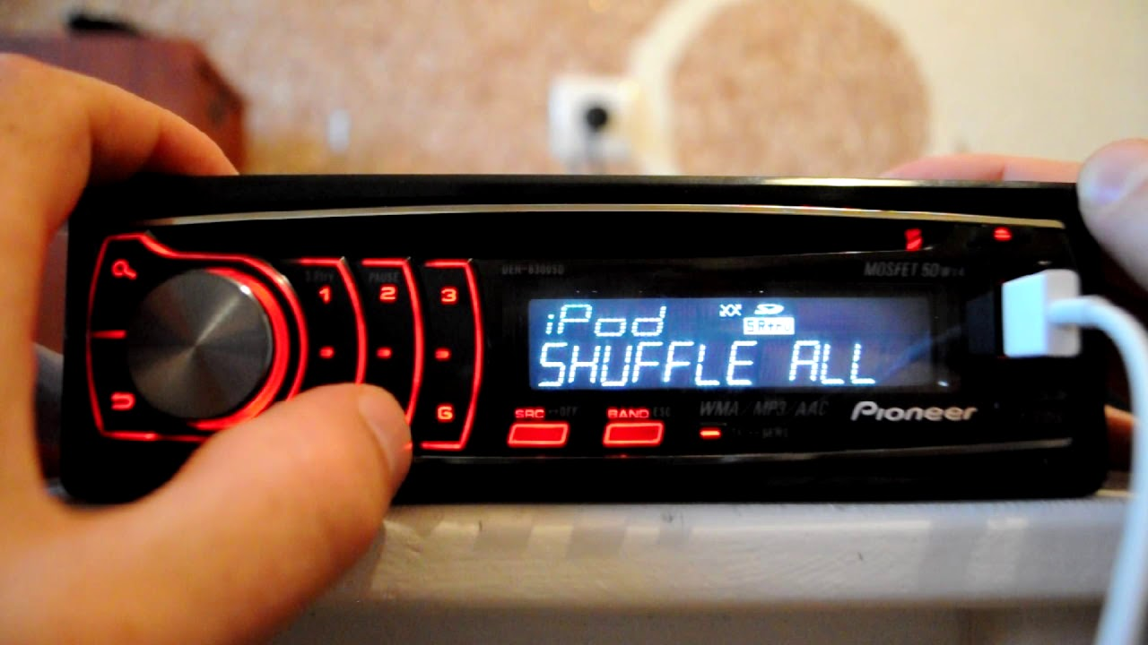 Pioneer Deh Mp3  Usb  Ipod Car Stereo  Built In Sd