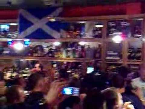 scotland v italy . watching the game in cafe borgia paisley