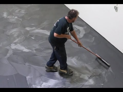 How to Install a Silver Metallic Epoxy Floor Start to Finish