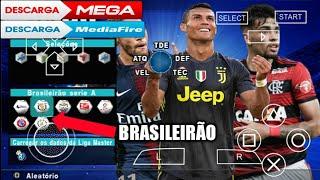 Pés 2019 PPSSPP!!!com BRASILEIRÃO, narração BR.super autalizado,com rumo ao estrelato e master liga