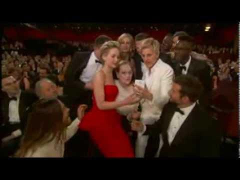 Oscars winners party and break Twitter with selfie