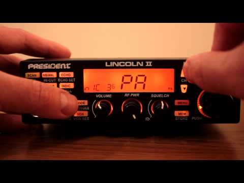 President Lincoln II CB Export Radio AM FM SSB 10 Meter