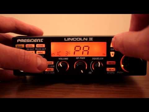 President Lincoln II CB Export Radio AM FM SSB 10 Meter