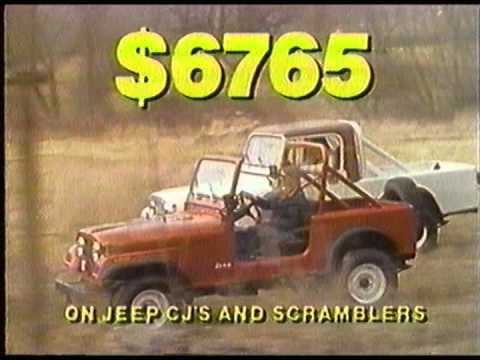 1982 AMC Jeep CJ and Scrambler Commercial