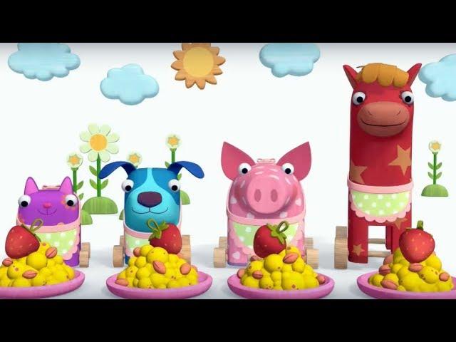 Теремок песенки для детей — Деревяшки: Завтрак (Каша)- Мультики для детей и малышей про животных