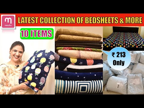 💕MEESHO BEDSHEET HAUL STARTING ₹213 ONLY💥Bedsheets/ Comforters /Curtains & Much More 💥10 PRODUCTS
