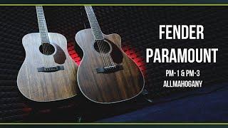 Акустические гитары FENDER PARAMOUNT ALL- MAHOGANY