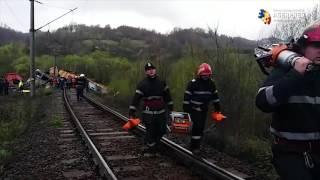 Tren de marfă deraiat în apropiere de Petroșani