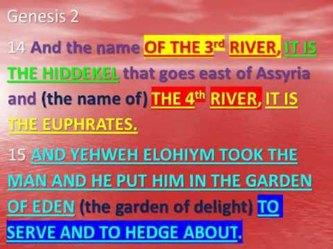 The 4 Rivers Of The Garden Of Eden Youtube