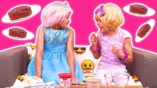 PRINCESS WEEKEND ROUTINE 🍫 Chocolate Cake Baking FAIL - Princesses In Real Life | Kiddyzuzaa