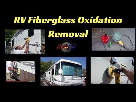Oxidation Removal from Fiberglass...RV Detailing...DeWalt Buffer..Wool Pads...RVerTV