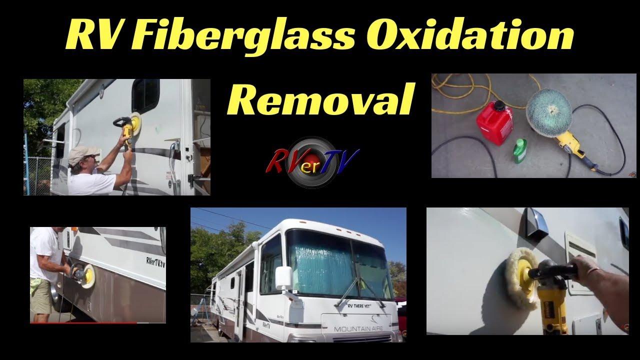 Oxidation Removal from FiberglassRV DetailingDeWalt