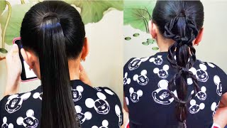Rope Braid Chain Link Ponytail