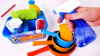 Cleaning House and Kitchen Dishes Playset for Kids