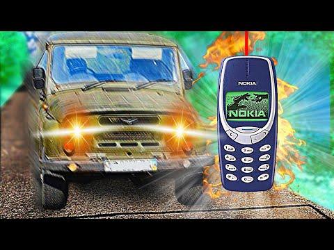 Бедный УАЗик vs NOKIA 3310 на СКОРОСТИ 100 км/ч + КОНКУРС