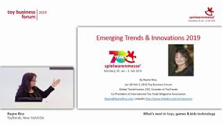 Toy Business Forum 2019 - What's next in toys, games & kids technology