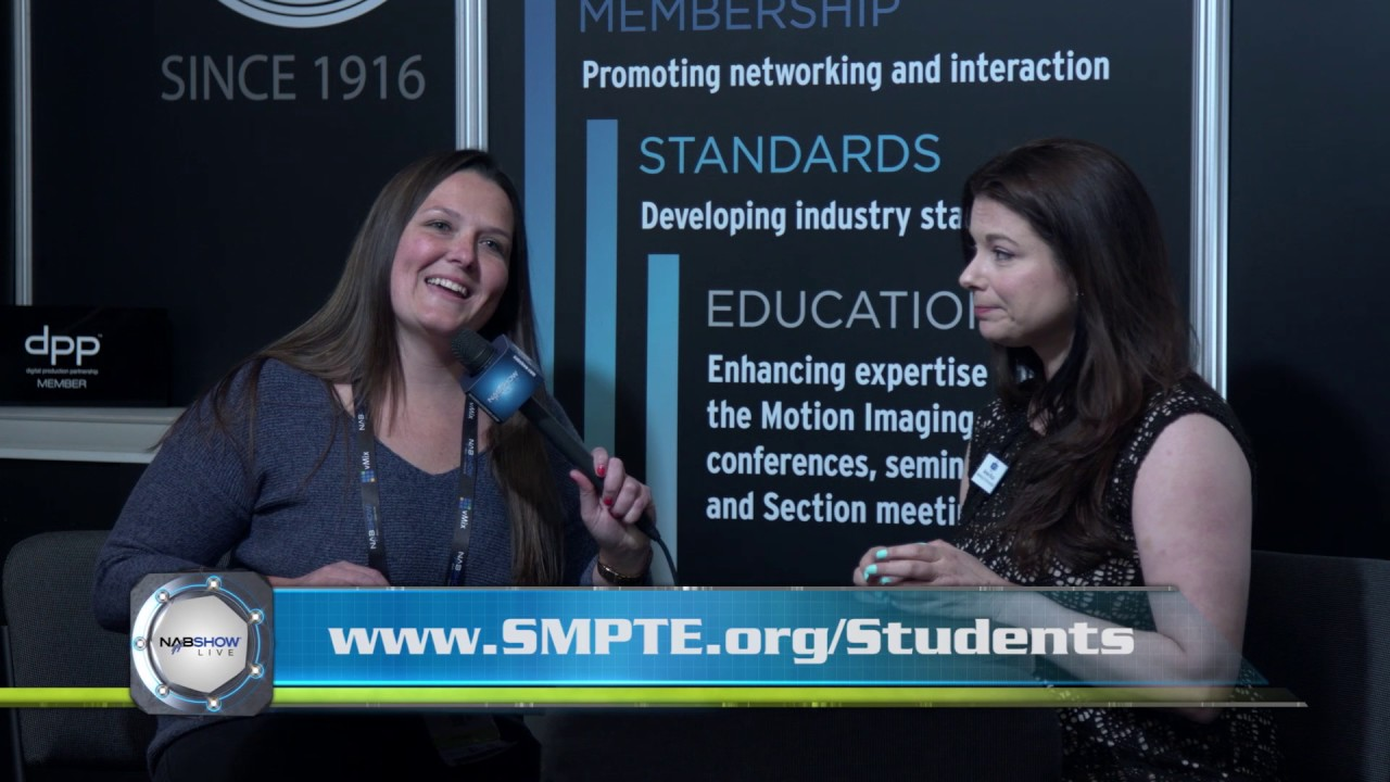 SMPTE's Aimee Ricca at the 2017 #NABShow  @smpteconnect