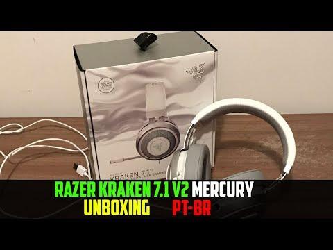 UNBOXING - Razer Kraken 7.1 V2 Mercury - [PT-BR]