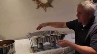 Baked Wings Recipe, Kept Hot w Skorr Wire Chafing Stands!