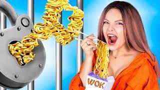 Популярная vs ботан в тюрьме! / Смешные трюки с едой