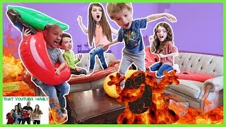 Lava Monster in our house! We play lava monster in our house which ...