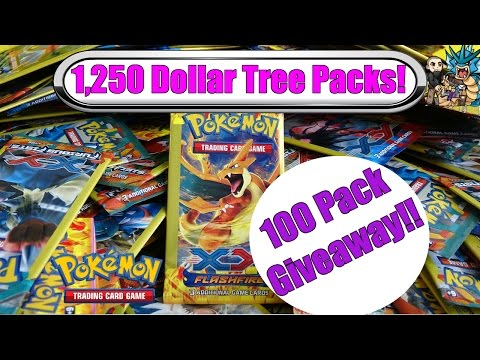 1,250 Dollar Tree Pokemon Packs! 100 pack GIVEAWAY!! Pokemon TCG Cards Unboxing