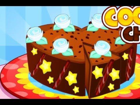 Cooking Chocolate Cake Cartoon for children Best Kids Games Best