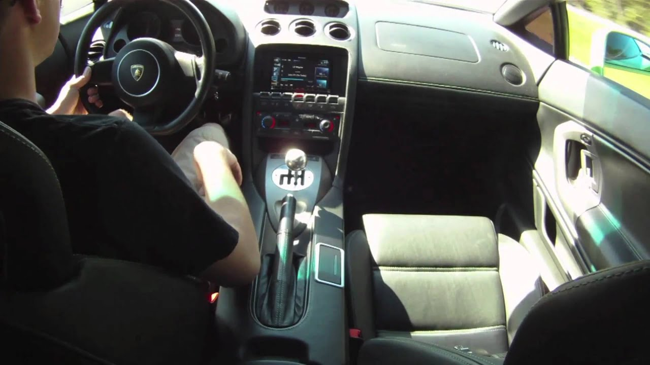 Lamborghini Gallardo Inside Ride 6 Speed Gated Shifter Youtube