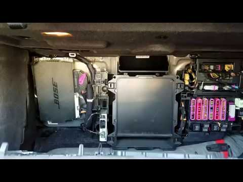 How to Remove Bose Amplifier from Audi A8 2012 for Repair - YouTube