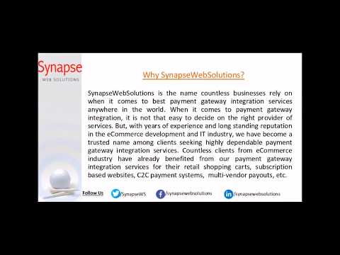 SynapseWebSolutions Payment Gateway Integration Services