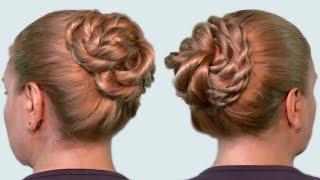 Как Сделать Пучок из Волос на Голове Видео Онлайн (How to make a bundle of hair)