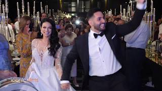 Bride and Groom enter to arabic music and drums