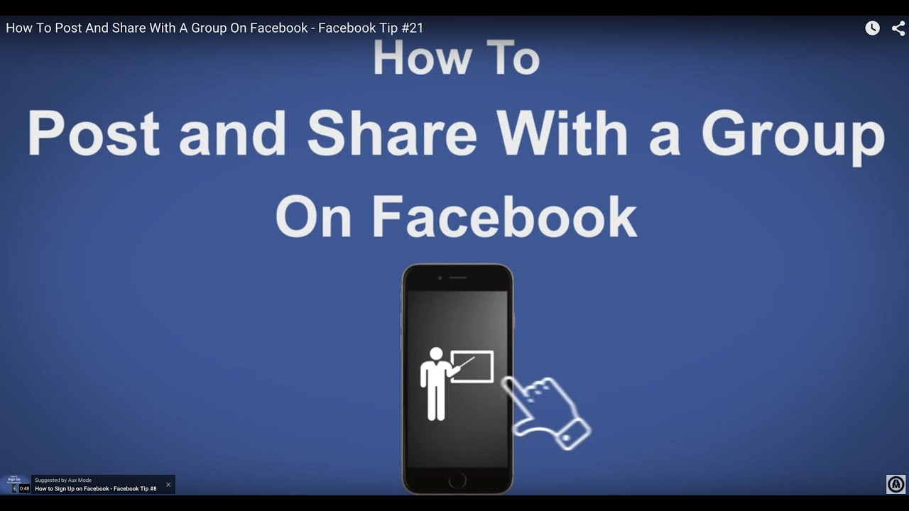 How To Post And Share With A Group On Facebook - Facebook ...