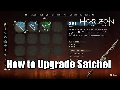 Horizon Zero Dawn How to Upgrade Satchel - Increase the size of inventory