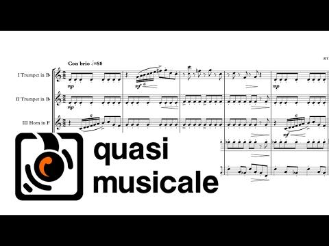 """""""20th Century Fox Fanfare"""" Alfred Newman arr Adrian Wagner  Brass Quintet Sheet Music"""