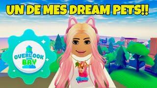 Comment J'ai eu un de mes DREAM PETS DIVINS Dans OVERLOOK BAY!! + Rencontre Abonnés! ROBLOX