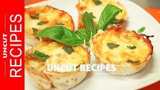 ☑️ Margherita Pizza Cups Recipe | Uncut Recipes