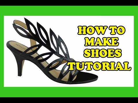 how-to-make-shoes---high-heels,-wedding-heels,-designer-heels,-sandal-style-04-tutorial