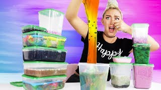MIXING ALL MY MOLDY SLIME SMOOTHIES INTO A GIANT SLIME SMOOTHIE! | Nicole Skyes