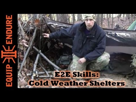How to Make Winter Shelter for Cold Weather Wilderness Survival