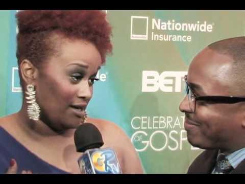 """GR Blue Carpet Interview w/ Amber Bullock """"Celebration Of Gospel 2012"""""""