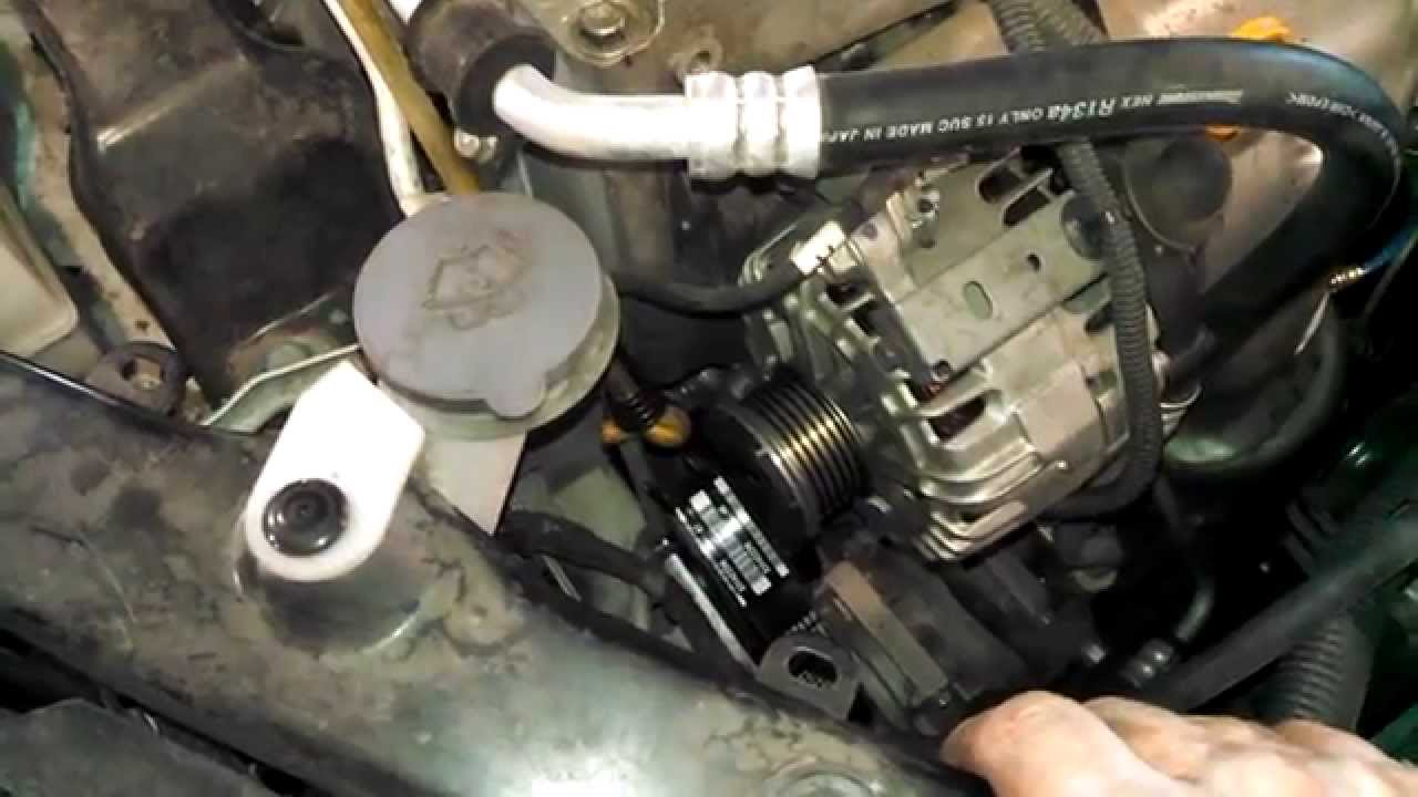 serpentine belt replacement 2011 nissan rogue 2 5 install remove replace how to [ 1280 x 720 Pixel ]