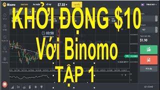 Tâp 1, khởi động $10 với Binomo, tùy chọn nhị phân, dành cho bạn mới khời nghiệp, ít tiền
