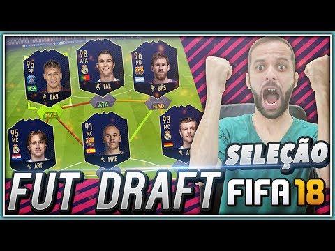 FIFA 18 - FUT DRAFT SELEÇÃO DO ANO DA FIFA!!!