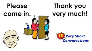 10 Very Short Conversations | Set 1 | Easy English Conversation Practice | ESL | EFL